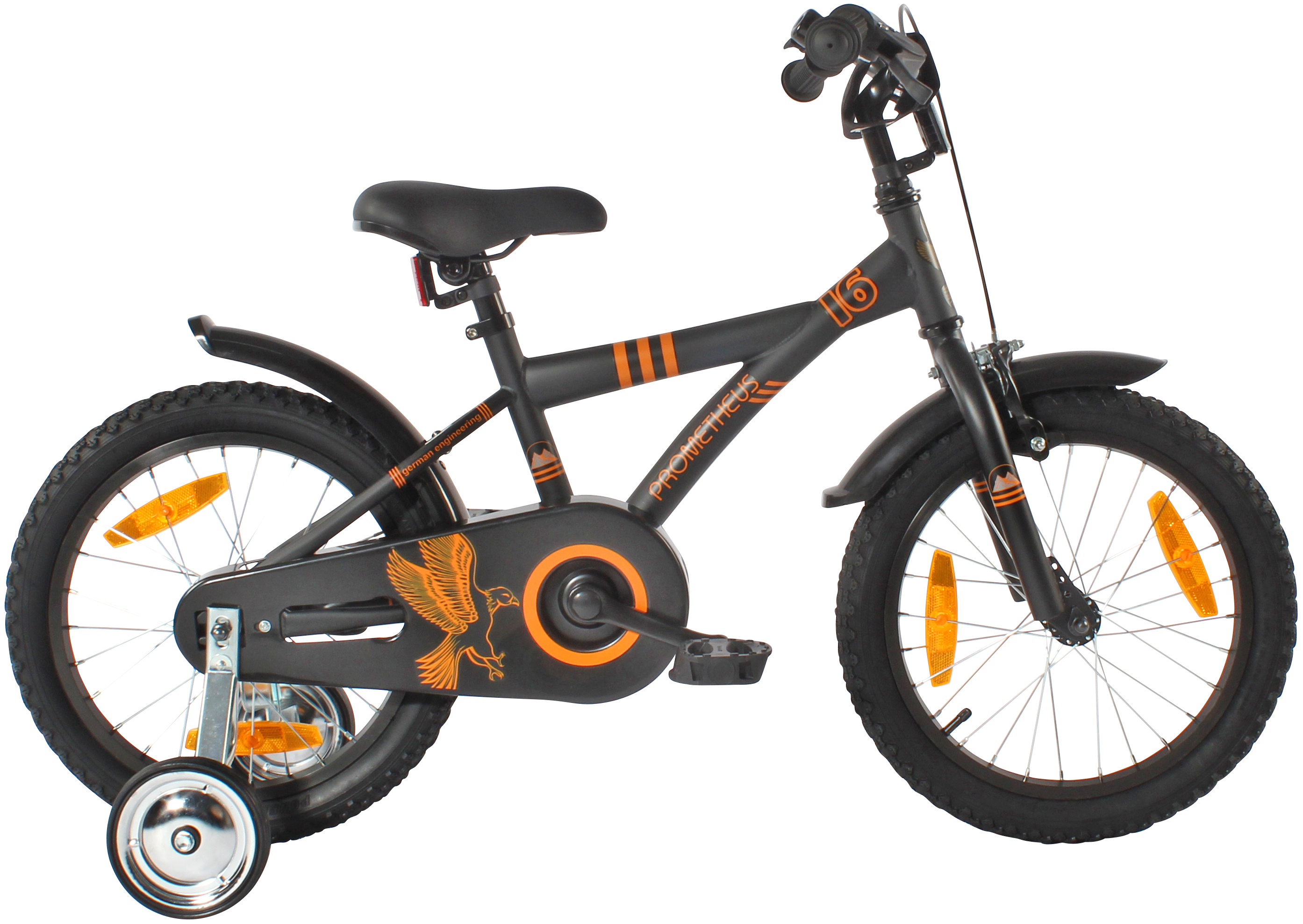 kinderr der 16 zoll kinderfahrr der produkte prometheus bikes. Black Bedroom Furniture Sets. Home Design Ideas